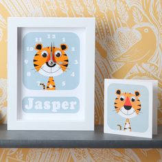 I've just found Personalised Framed Animal Clocks. Telling the time can be lots of fun with these cute and quirky personalised framed clocks featuring your favourite Stripeycats animals. Baby Frame, Gift Envelope, Wedding Place Settings, Recycled Leather, Christening Gifts, Babies First Christmas, New Baby Gifts, Teacher Gifts, Your Cards
