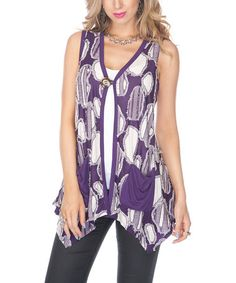 Take a look at this Purple Abstract Vest by Lily on #zulily today! $24.99
