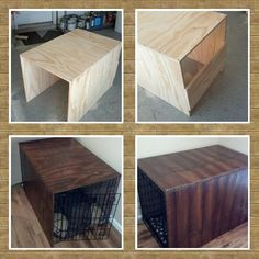 New Diy Dog Kennel Cover Crate Table 58 Ideas Dog Crate Cover, Dog Kennel Cover, Diy Dog Crate, Diy Dog Kennel, Kennel Ideas, Wood Dog Crate, Dog Kennels, Dog Crate Furniture, Coffee Table Dog Crate