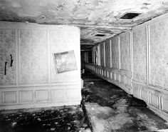 An Ambassador Hotel hallway that once ran from the main ballroom to the kitchen, circa 2005. (Photographer: Tom Zimmerman / LAPL 00085098) Bizarre Los Angeles