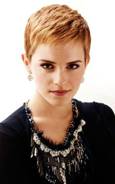 800x1280 Wallpaper emma watson, short hair, red hair, earrings, blouse