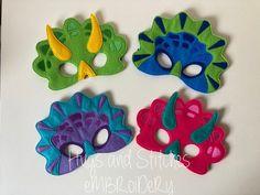 Dinosaur Mask Triceratops Mask Dino Mask Dinosaur Girl | Etsy Dinosaur Mask, Girl Dinosaur, Felt Mask, Embroidery Thread, Hugs, Cool Kids, Mini, Etsy, Carnival