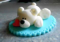 Polar Bear Fondant Figure