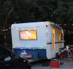 aussie vintage caravan christmas