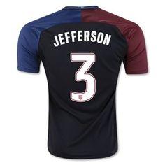 2016 USA Soccer Team Away Replica Cheap #3 JEFFERSON Jersey [F707]