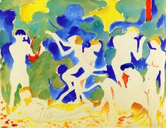Music, 1904, watercolor on paper, 50 x 64.6 cm, Private Collection,  Fauvism, Andre Derain (1880-1954).