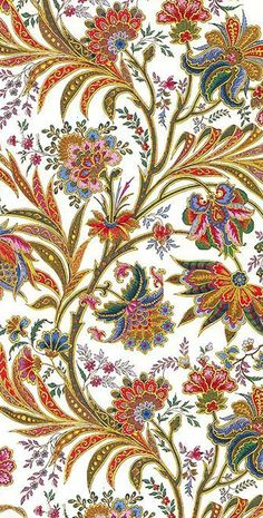 Blumen Pflanzen Muster Vintage - Forwall - Fototapete - Tapete - Fotomural - Mural Wandbild - - XXXL - x - VLIES (EasyInstall) - 4 Pieces Motifs Textiles, Textile Patterns, Embroidery Patterns, Print Patterns, Paper Embroidery, Pattern Paper, Pattern Art, Pattern Design, Design Textile