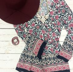 All I Ever Need {Floral Romper}