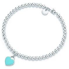 Bracelets De Tiffany, Bracelets En Argent Sterling, Bracelets De Perles,  Bracelet Coeur, 810dc25393e