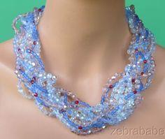 Vintage-Coppola-e-Toppo-Multi-Color-Crystal-Bead-Necklace-Italy