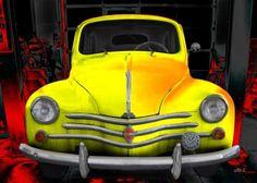 Renault 4CV Oldtimer Poster kaufen