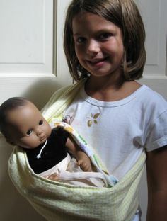 Baby Doll Sling Carrier PDF Sewing Pattern fits Bitty Baby, American Girl Doll, and More | Meylah