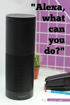 Oh, the wonderful things Alexa can do! She can play music, make your grocery lis. Amazon Echo Tips, Alexa Compatible Devices, Alexa Echo, Alexa App, Smart Home Technology, Hacks, Wonderful Things, Google, Helpful Hints