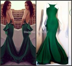 2016 Hot Selling Sexy Mermaid Green Evening Dresses Open Back Evening Gowns Vestido De Festa Longo Prom Party Gown White Evening Dress Women Formal Dresses From Sunny_forever, $81.41  Dhgate.Com