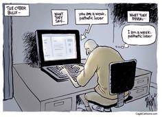 Risultati immagini per cyberbullying coward