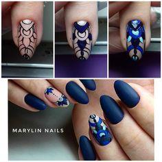 54 Ideas For Fails Design Dark Skin Manicures Manicure Y Pedicure, Shellac Nails, Matte Nails, Love Nails, Pretty Nails, My Nails, Color Block Nails, Henna Nails, Design Set