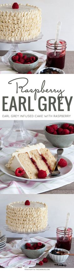 Treat Mom to a tea-inspired Mother's Day brunch | Raspberry Earl Grey Cake | by Tessa Huff for http://TheCakeBlog.com: