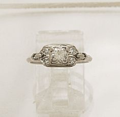 0.30ct. Diamond & Platinum Art Deco by GesnerEstateJewelry on Etsy, $2545.00