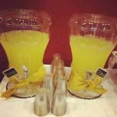 """Meant to Bee Signature Drinks. The """"Honey"""" is lemonade & the """"Sting ...with alcohol"""