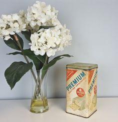 Vintage Saltine Cracker Tin English Spanish Rustic by CurioBoxx