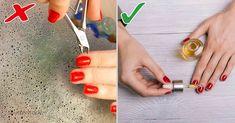 Para extender la duración de tu esmalte de uñas, debes aplicar los siguientes trucos: Triangle, Enamels, Nail Polish Tricks, Remedies, Beauty
