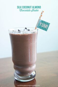 SILK Coconut Almond Chocolate Shake! Takes minutes to make and only has THREE ingredients!