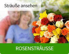 Rosensträuße bei http://blumen-verschenken.eu online bestellen. Bundesweiter Blumenversand per Mausklick.