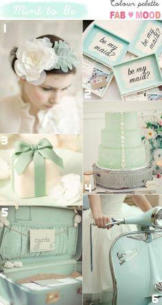Mint wedding by Colour Palette