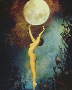 mulher e a lua
