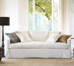 Pottery Barn's expertly crafted collections offer a widerange of stylish indoor and outdoor furniture, accessories, decor and more, for every room in your home. Furniture, Cool Couches, Slipcovered Sofa, Sofa Furniture, Home, Home Furniture, Cushions On Sofa, New Living Room, Country House Decor
