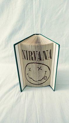 papierikovo / Nirvana - logo vyskladané z knihy Nirvana Logo, Book Folding, Book Art, Logos, Logo