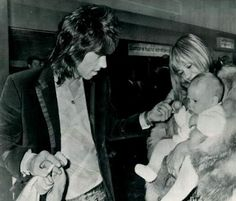 Anita Pallenberg with Keith, and baby Marlon!