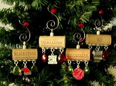 Wine Cork Christmas Ornaments Homemade   Peace on Earth Wine Cork Christmas Ornament by PleasantPresents