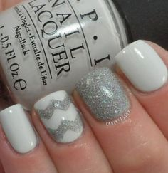 use pink instead of white and grey nails