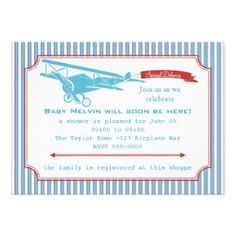 come fly baby shower airplane travel invitation | couples baby, Baby shower invitations
