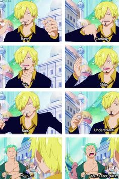 One Piece anime_ Funny_ Sanji, Zoro