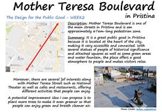 WEEK2: Mother Teresa Boulevard in Pristina.