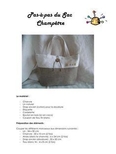 Fichier PDF Atelier - Tuto Sac champêtre.pdf Diy Sac, Art Corner, Pouch, Wallet, Travel Bags, Diy And Crafts, Tote Bag, Handbags, Purses