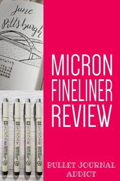 Bullet Journal Supplies For Beginners - Best Bullet Journal Pens - Micron Fineliner Review For Bullet Journals #bulletjournal #bujolove #bujosupplies #bulletjournalsupplies #bulletjournalideas #bujopens #bulletjournalpens #fineliner #finelinerpens Best Bullet Journal Pens, Bullet Journal Notebook, Bullet Journal Themes, Daily Journal, Bullet Journal Inspiration, Bullet Journals, Journal Ideas, Small Calendar, Outing Quotes