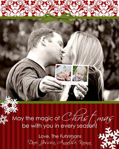 Great idea for a Christmas picture if you have little ones that won't sit still for a picture. Might have to do this next year.  SAVE THE DATE CARD