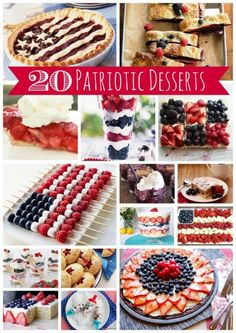 Healthy red white and blue food pinterest blue food food and 20 patriotic dessert recipes myblessedlife forumfinder Choice Image