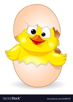 Cute chick was born vector image on VectorStock