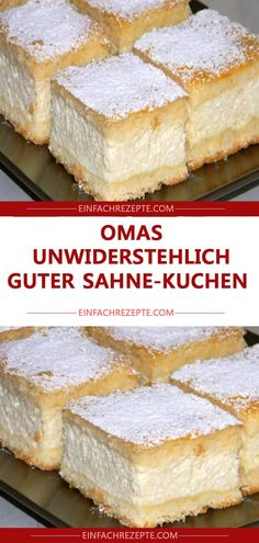 Omas himmlisch guter Sahne-Kuchen😍 😍 😍 Grandma's Heavenly Good Cream Cake Grandma's Heavenly Good Cream Cake The post grandmas Heavenly good cream cake appeared first on cake recipes. Fall Desserts, Health Desserts, No Bake Desserts, Dessert Recipes, Cakes Originales, German Cake, German Desserts, Easy Smoothie Recipes, Pumpkin Spice Cupcakes