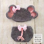 Ravelry: Newborn Elephant Hat and Diaper Cover pattern by Heather Johnson of Heatherpj