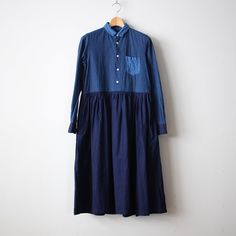 OLDMAN'S TAILOR R&D.M.Co- | オールドマンズテーラー CRAZY SHIRT DRESS #navy