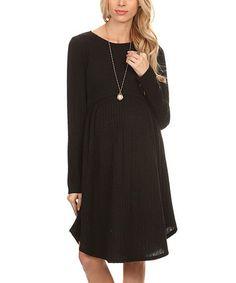 Chris & Carol  Black Babydoll Maternity Sweater Dress