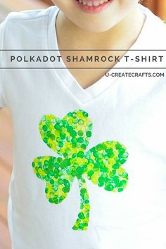 Polkadot Shamrock T-shirt Tutorial