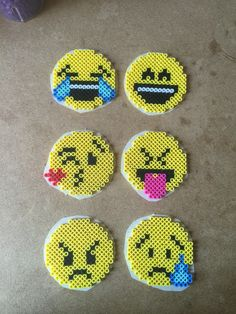 Emoticons perler beads by Terri Mitchell