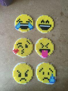 Emoticons perler beads by Terri Mitchell
