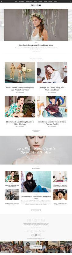 Christina is an wonderful premium #WordPress #theme for Fashion & Lifestyle…